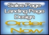 design a stylish landing page for your website